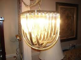 vintage hollywood regency style lucite ribbon chandelier