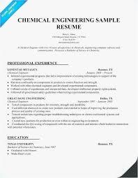Chemical Engineer Resume Example 42 Best Best Engineering Resume