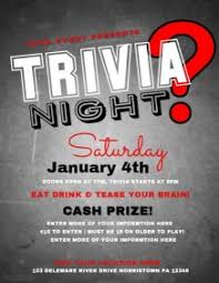 trivia night flyer templates customizable design templates for quiz night postermywall