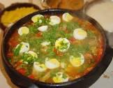 bahian brasilian fish stew  decorated with boiled eggs  moqueca