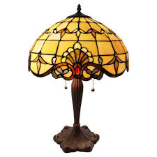 River Of Goods 24 In Amber Table Lamp With Allistar Stained Glass Shade