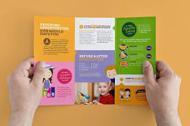 tri fold school brochure template after school kids care template pack brochure templates on free