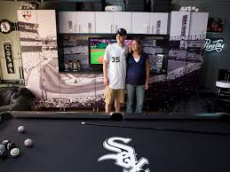 High Tech Cave. Baseball Man Cave Homeowners