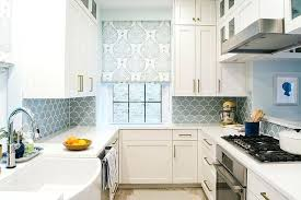 blue kitchen backsplash white and blue kitchen with blue fish scale tile white kitchen light blue