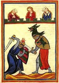 cutting with sword through armor