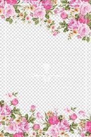 Paper With Flower Border Wedding Invitation Paper Flower Rose Pink Pink Roses Border