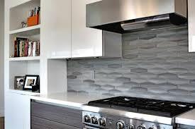 contemporary gray tile backsplash