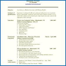 Medical Assistant Resumes With No Experience Objective For Resume With No Experience Medical Assistant Resume 12