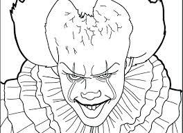 Coloring Pages Of Pennywise The Clown Concept For Within 7