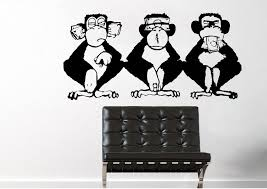 urban wall stickers and vinyl decals s money monkeys wise