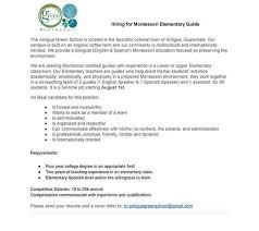 Montessori Assistant Cover Letter Montessori Assistant Cover Letter