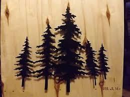 pine trees 3d metal wall art