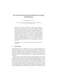 Mechanism Design Erdman Pdf Pdf New And Revised Mechanism Classifications Proposal And