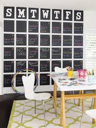 design ideas chalkboard calendar with magnetized dates