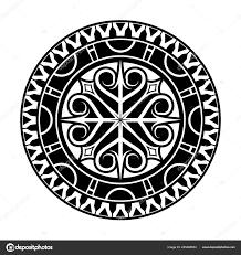 Vektorový Obrázek Stylizované Kříže Hvězdy Náčrt Tetování Evropský