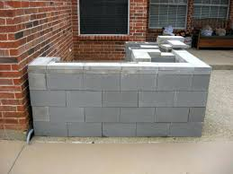 outdoor kitchen cinder block frame outdoor designs