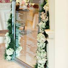 Mirror Wedding Seating Chart Wedding Mirror Table Plan Seating Charts Love Storey