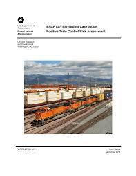 Bnsf Organizational Chart Pdf Bnsf San Bernardino Case Study Positive Train Control