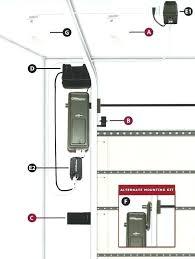 wall mount garage door opener pass through kit mounted walk liftmaster 8500 installation
