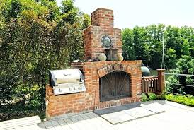 outdoor brick fireplace designs pictures
