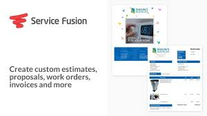 custom service invoices service fusion create custom estimates proposals work orders