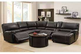 leather reclining sectional sofa chaise