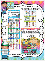 Classroom Job Chart Printable Free 41 Faithful Helper Chart Pictures