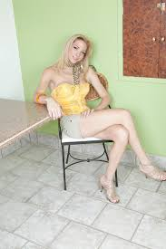 Tranny Solos Sexy blonde shemale Laviny Albuquerque stroking her.