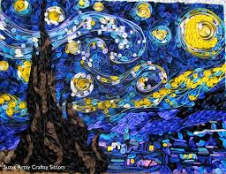 Quilled Starry Night & paper quilled starry night van gogh Adamdwight.com