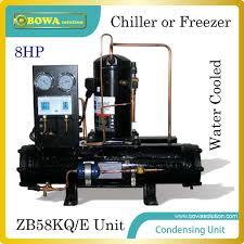 compresor refrigeracion. 8hp compresor scroll refrigerado por agua unidad de condensación con emerson adecuado para las clases refrigeracion r