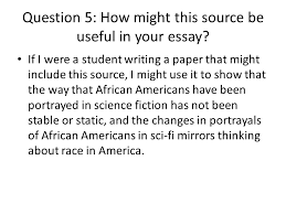 the annotated bibliography ppt video online  question 5 how might this source be useful in your essay