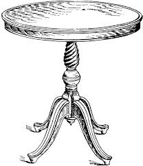 round table clipart black and white. table clipart round black and white d