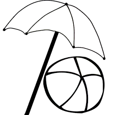 Small Picture Beach umbrella coloring pages with ball ColoringStar