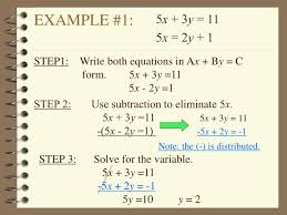 step1 write both equations in ax by c