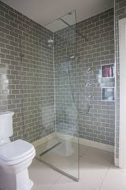 grey tiles bathroom bathroom makeover grey brick tiles and pink accessories makes