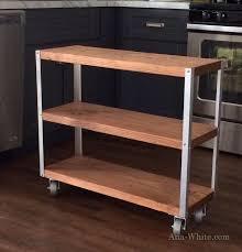 easiest industrial cart build industrial furniture