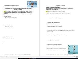 Questions To Ask On Work Experience Preparing Students For Work Experience Interviews Activity Worksheet Careers Progression
