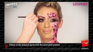 návod na líčení make up tutorial malování na obličej y leopard