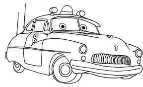 Cars Sheriff Coloring Pages Get Coloring Pages