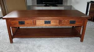 mission style coffee table with drawers woodworking plans