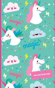 Kid Day Planner Unicorn Design Cover Weekly Pocket Planner