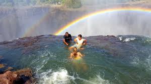 infinity pool singapore dangerous. Swimming In Devil\u0027s Pool Victoria Falls Zambia With Rainbow Infinity Singapore Dangerous G