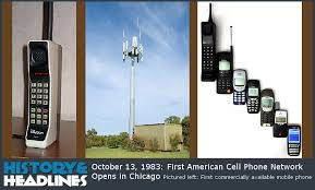 first american cell phone network opens in   13 1983 first american cell phone network opens in chicago