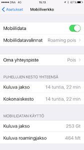 iphone päivitys mobiiliverkossa