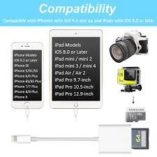 sd card reader lightning adapter for iphone support ios 11 2 5 and before trail game viewer for iphone x 8 plus 8 7 plus 7 6s plus 6s 6 plus 6 5