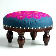 small ottoman stool. Leather Footstools Small Ottoman Stool Storage Footstool Brown 5