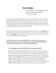 Resume Hard Skills Sinma Carpentersdaughter Co