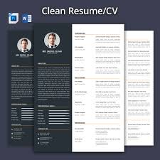 Resume Template 2017 Clean Resume CV 24 Resume Templates Creative Market 16