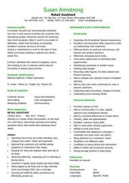 Cv Sales Assistant Retail Cv Example Magdalene Project Org