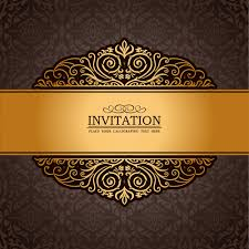 Free Invitation Background Designs Set Of Luxury Invitation Background Elements Vector Free Vector In
